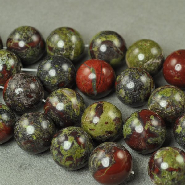 s33571 Stone Beads - 16 mm Round - Dragon Blood Jasper (1)