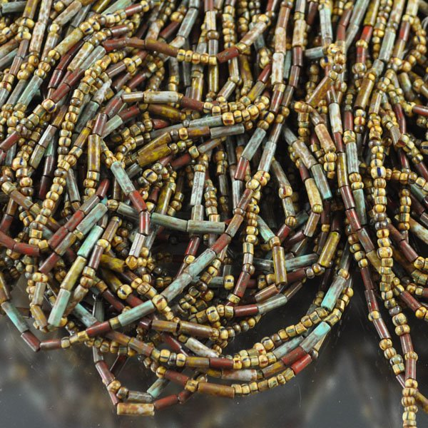 s33666 Bead Mix -  Seed Bugle Mix - Rustic Adventure (2 strands)