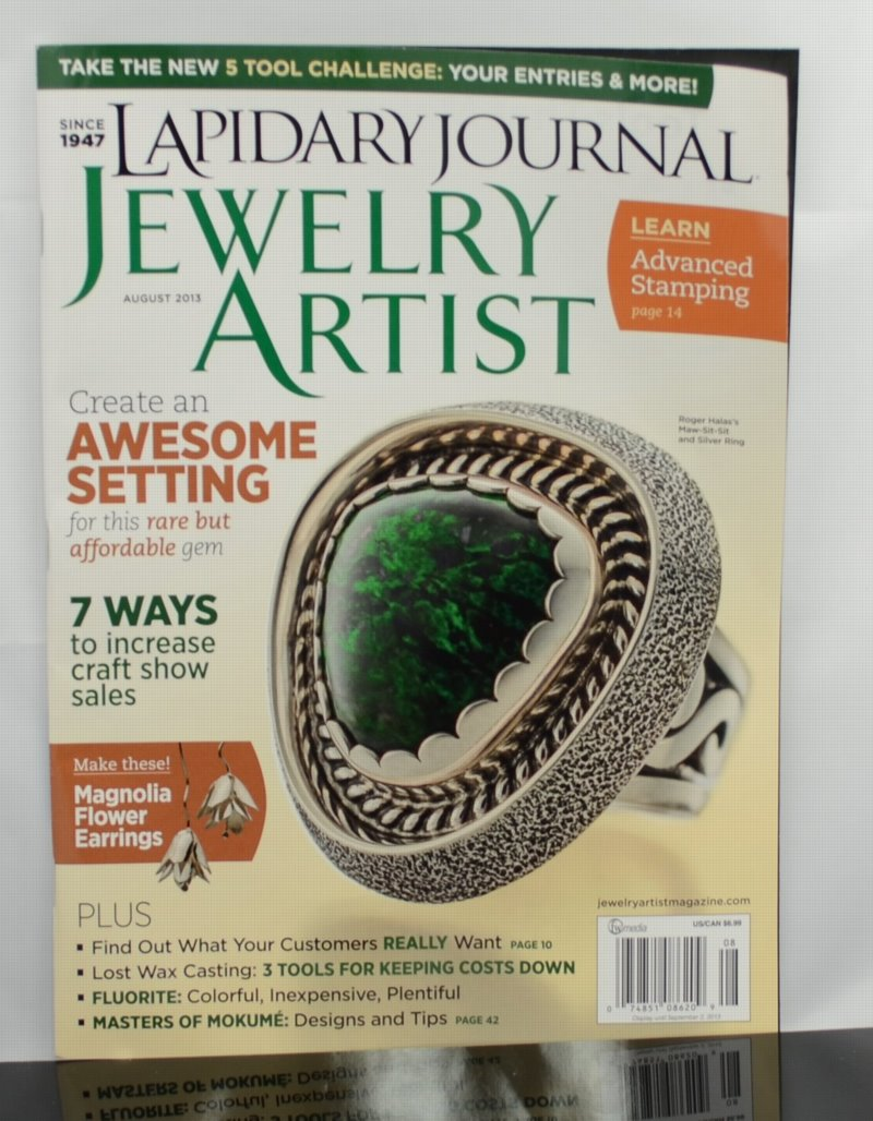 s33856 Magazine - Lapidary Journal Jewelry Artist -  2013 - August