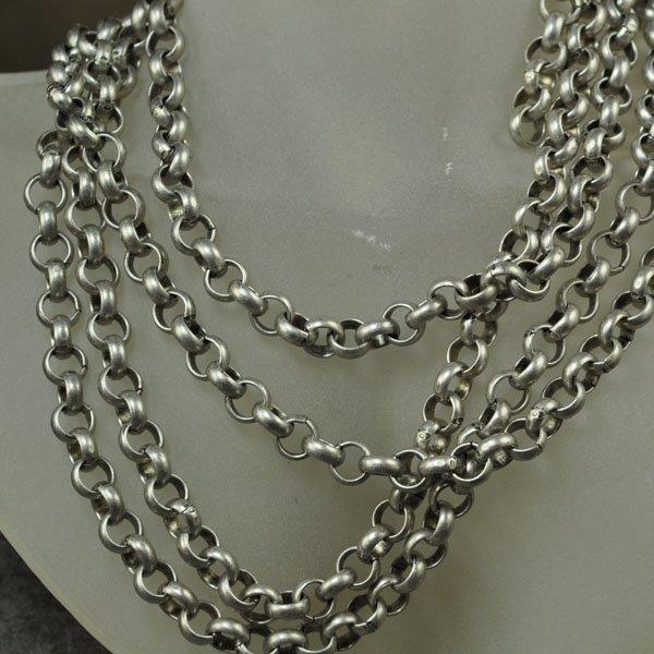 s34388 Chain - 7 mm Rolo Chain - Semi-Matte Antique Silver (Inch)