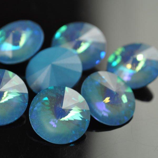 s34935 Swarovski Elements Rhinestones - 14 mm Rivoli (1122) Rhinestone - Ultra Blue (1)