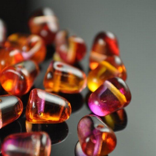 s34997 Glass Beads - 10 mm Gumdrops - Juicy Fruit (6)