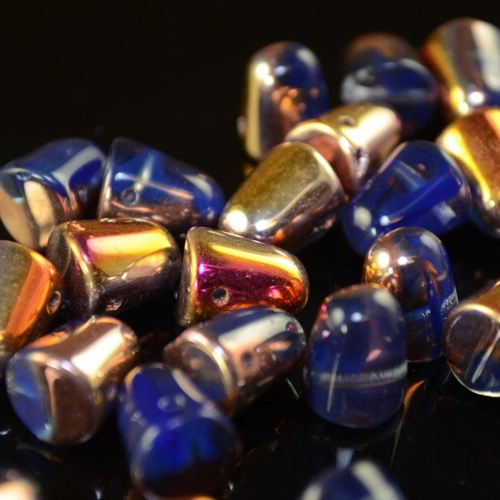 s35213 Glass Beads - 10 mm Gumdrops - Royal Blue Sliperit (6)