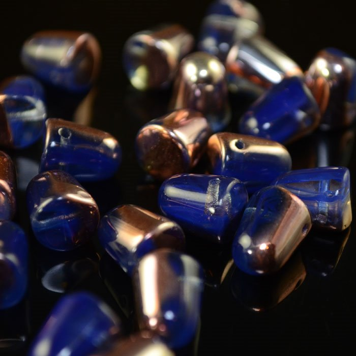 s35216 Glass Beads - 10 mm Gumdrops - Royal Blue Apollo (6)