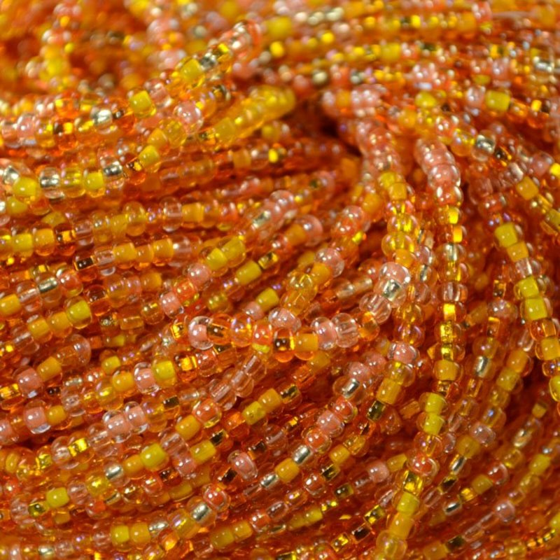 s35298 Czech Seedbeads - 8/0 Seedbead - Orange Creamsicle Mega Mix (20 grams)