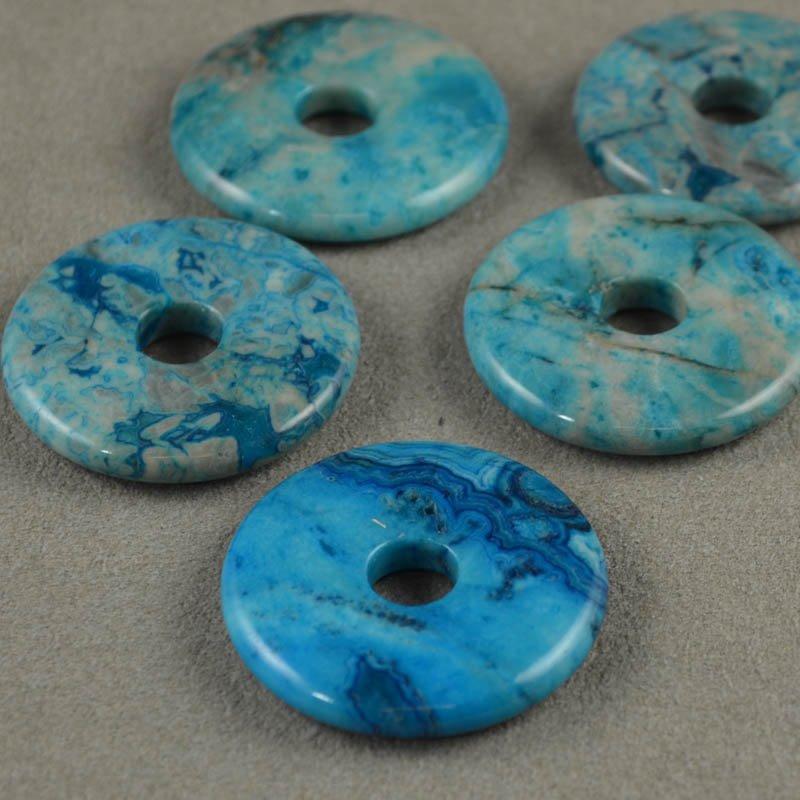 s35633 Stone - 35 mm Donut Pendant - Sky Blue Crazy Lace Agate (1)