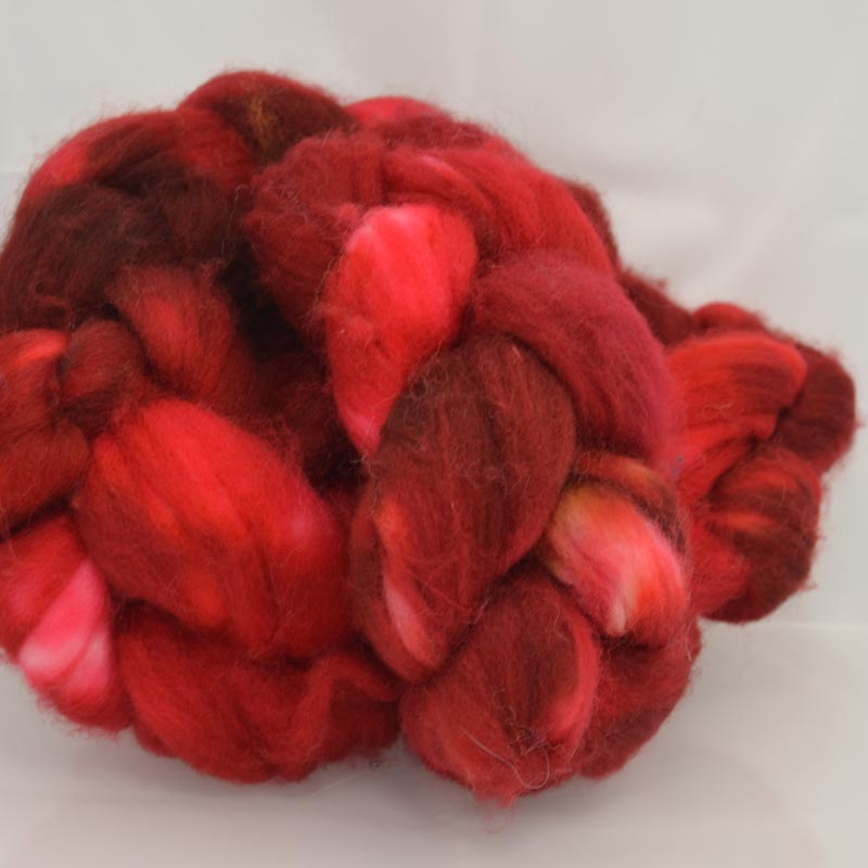 s36050 Felting Supplies -  Merino Roving - Fiery Heart