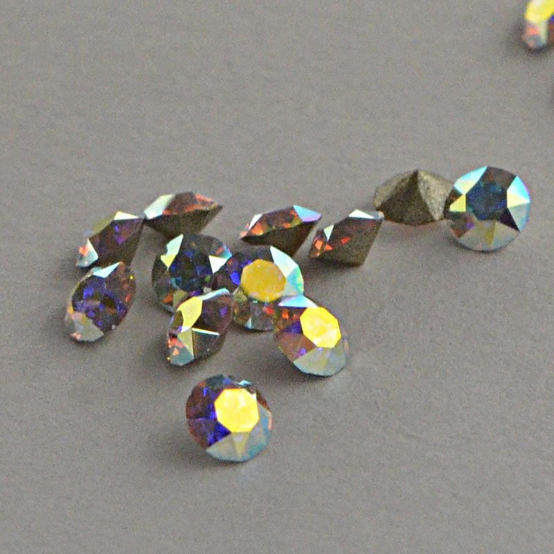 s36398 Swarovski Elements - Rhinestones - PP 17 Chaton (Article 1028) (Foiled) - Crystal AB (1 gram)