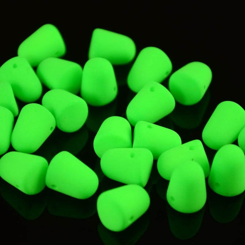 "s36446 Glass Beads - 10 mm Gumdrops - Neon Green <font color=""#FF0000"">Managers LAST CALL </font> 80% off!"