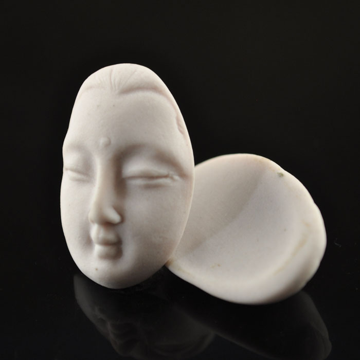 s36838 Ceramic Cabochon -  Buddha Face - Blush (1)