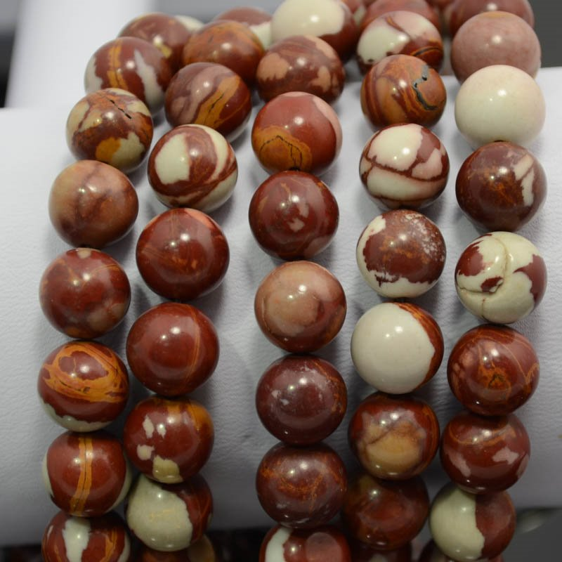 s36927 Stone Beads - 10 mm Round - Noreena Jasper (1)
