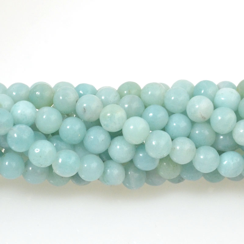 s36938 Stone Beads - 4 mm Faceted Round - Amazonite (strand)
