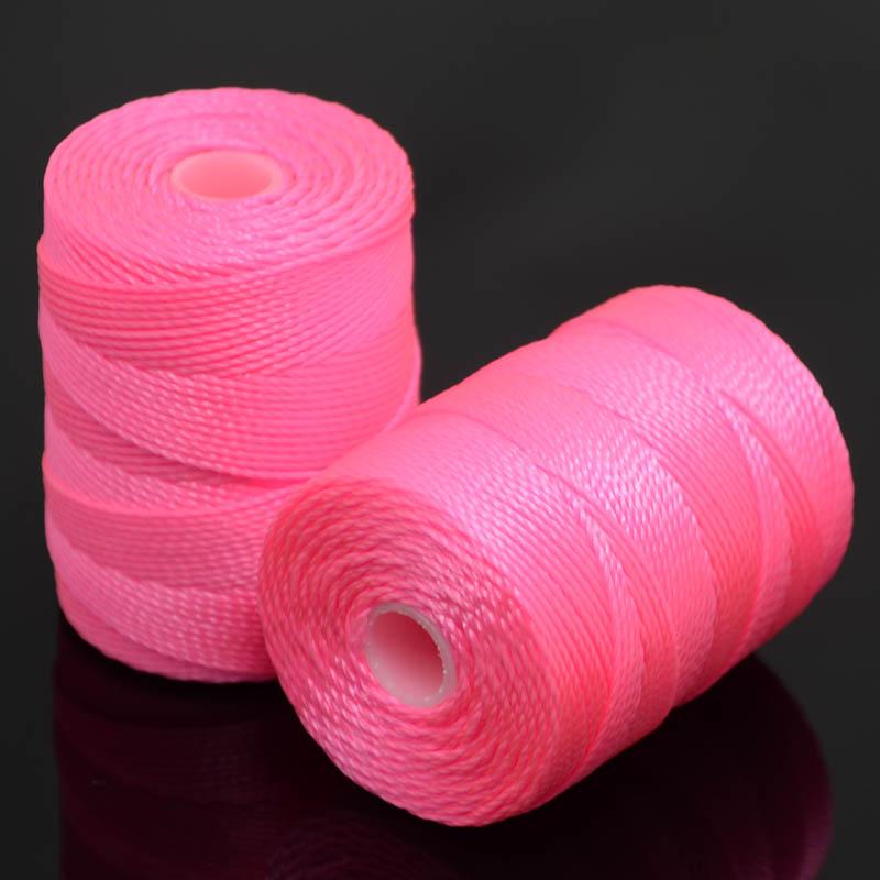 s37231 Thread -  C-Lon Bead Cord - Neon Pink (Spool)