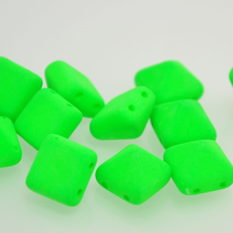 "s37531 Glass Beads - 12 mm Bead Stud - Neon Green <font color=""#FF0000"">Managers LAST CALL </font> 80% off!"