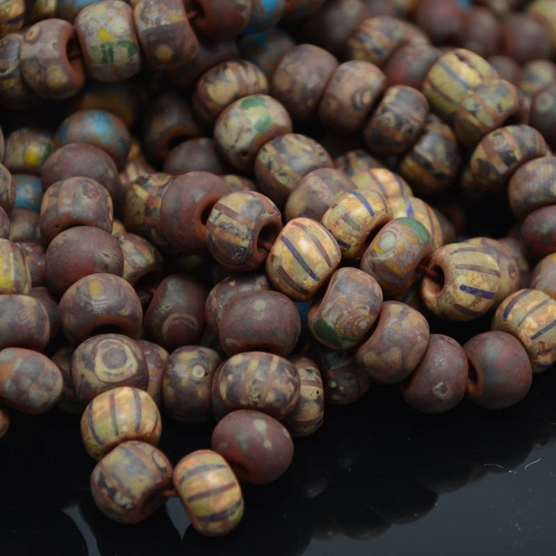 s38316 Czech Seedbeads - 34/0 Seedbead - Indiana Jones (strand)