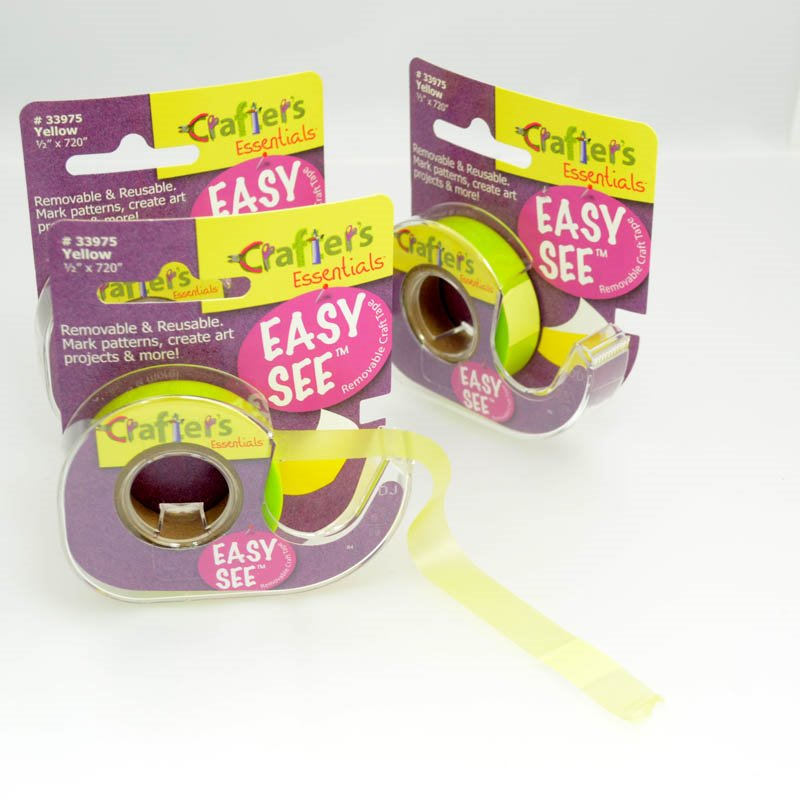 s39162 Tools -  Easy See Crafters Tape - Yellow (Spool)
