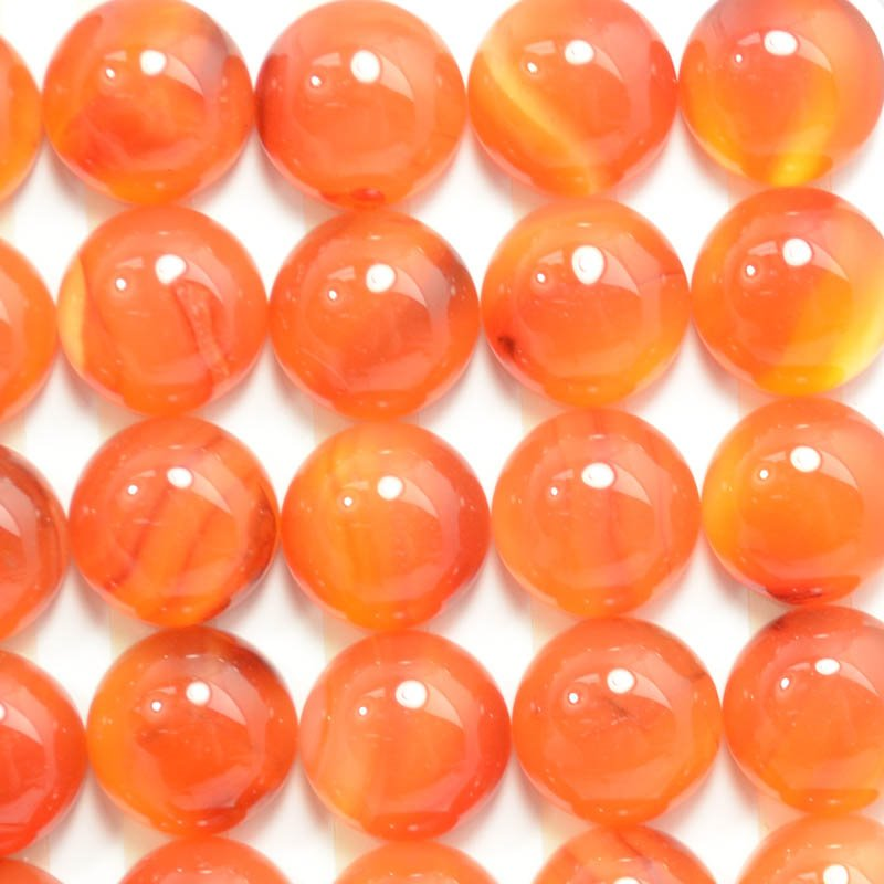 s39257 Stone Cabochon - 12 mm Round Cabochon - Carnelian (1)