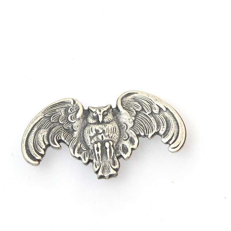 s39828 Metal Finding - Goth Owl - Antiqued Silver