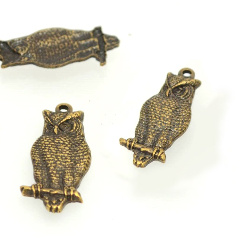 s39829 Vintage Style -  Hoot Nanny Owl - Antiqued Brass (1)
