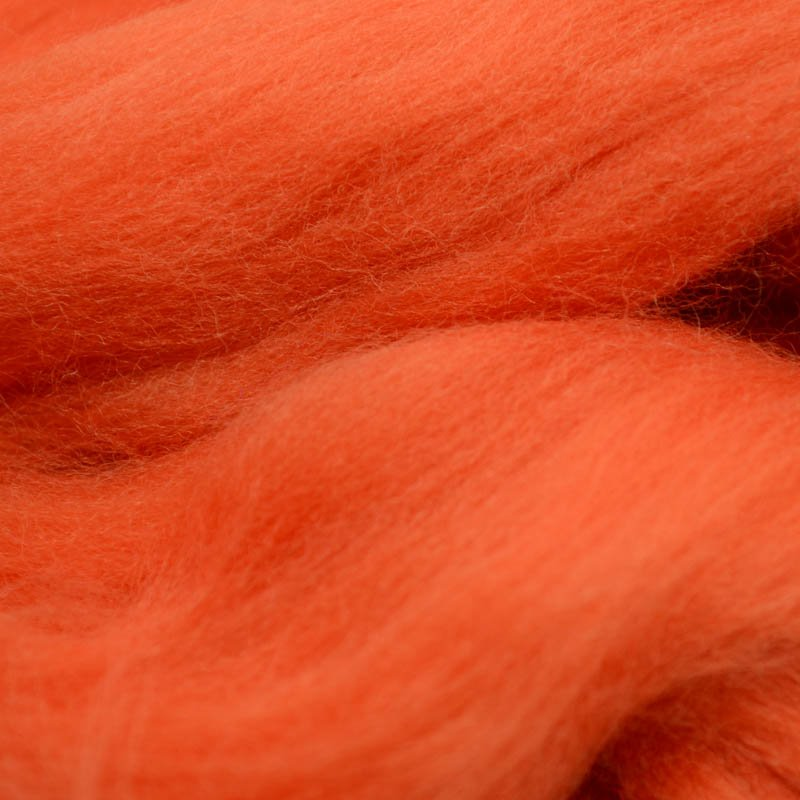 s40064 Felting Supplies -  Merino Roving - Fire