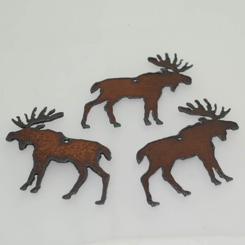 s40588 Stamped Metal Components -  Moose - Rusted Iron (1)