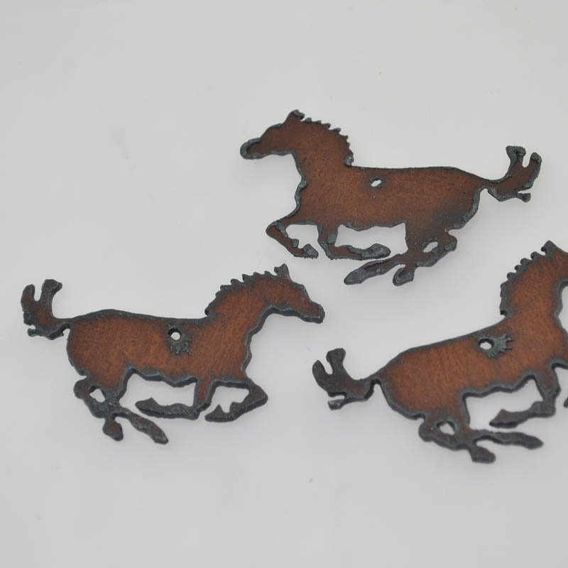 s41185 Stamped Metal Components -  Running Mustang Pony - Rusted Iron (1)