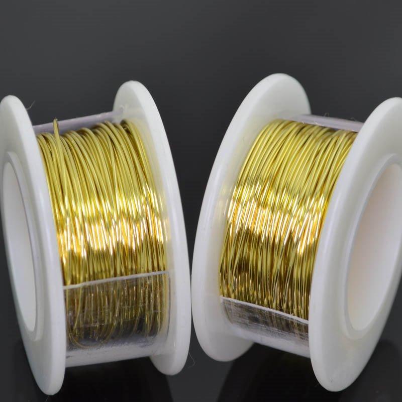 s41531 Para Wire - 22 gauge Round Wire - Champagne Gold (8 yards)