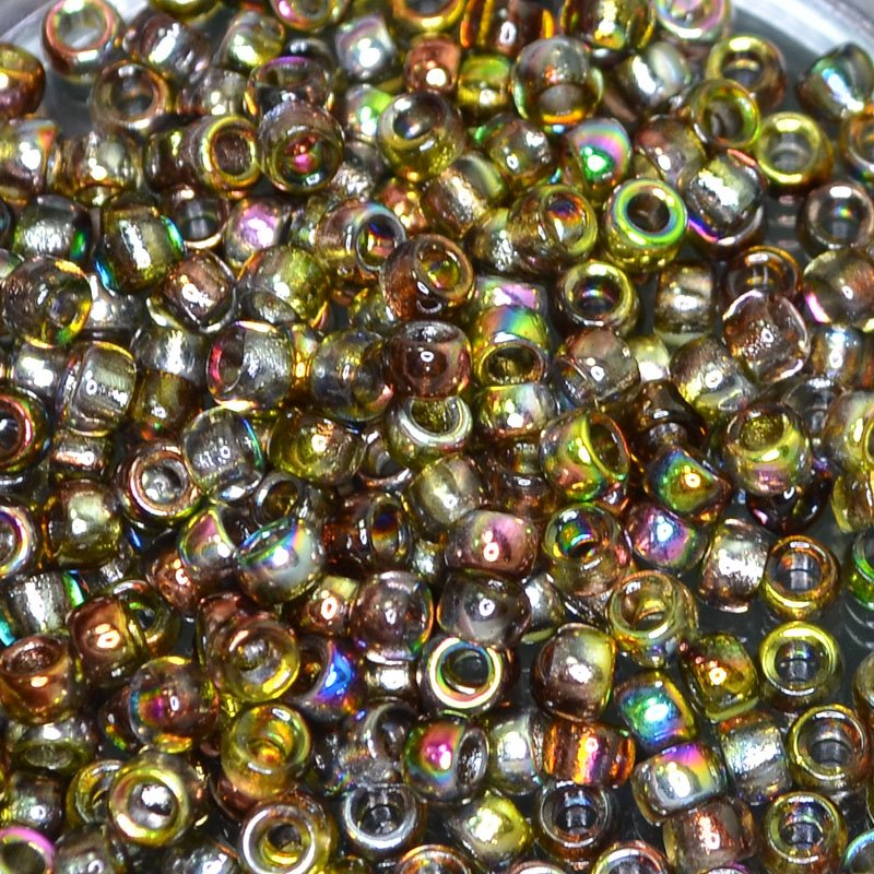 s41854 Czech Seedbeads - 7/0 Matubo Seedbeads - Flame Magic