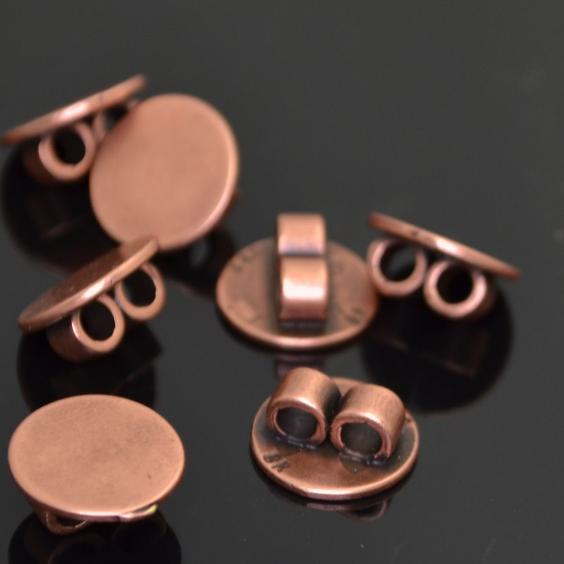 s42273 Findings - 10 mm Round Link Pad - Antiqued Copper (1)