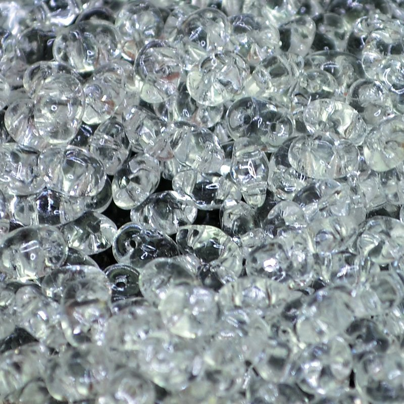s42512 Czech Seedbeads - 2 Hole Superduos - Crystal