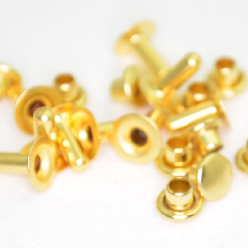s42903 Leather Riveting Supplies - 6 mm Compression Rivets - Bright Gold (10)
