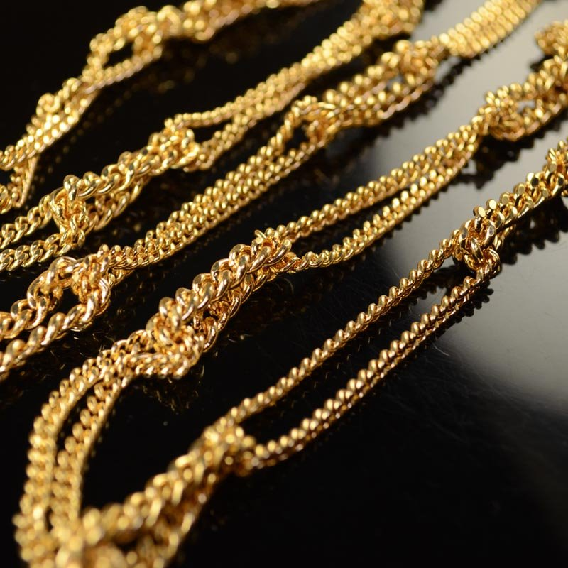 s43371 Chain -  Chain in Chain - 18 K Goldplated (foot)