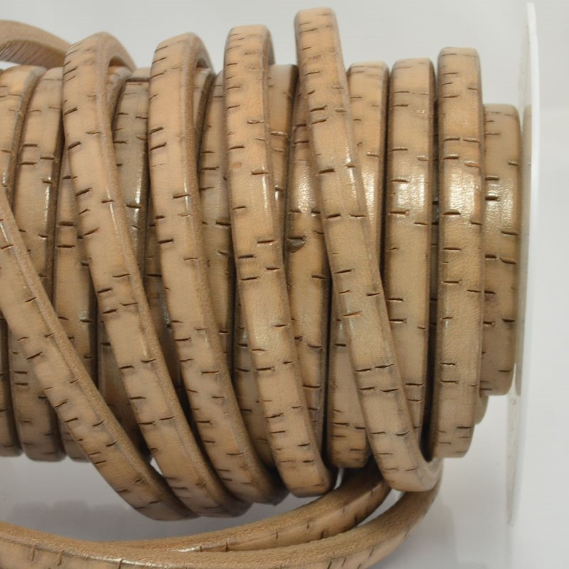 s44023 Leather -  Regaliz - Bark - Antique Ivory (Inch)