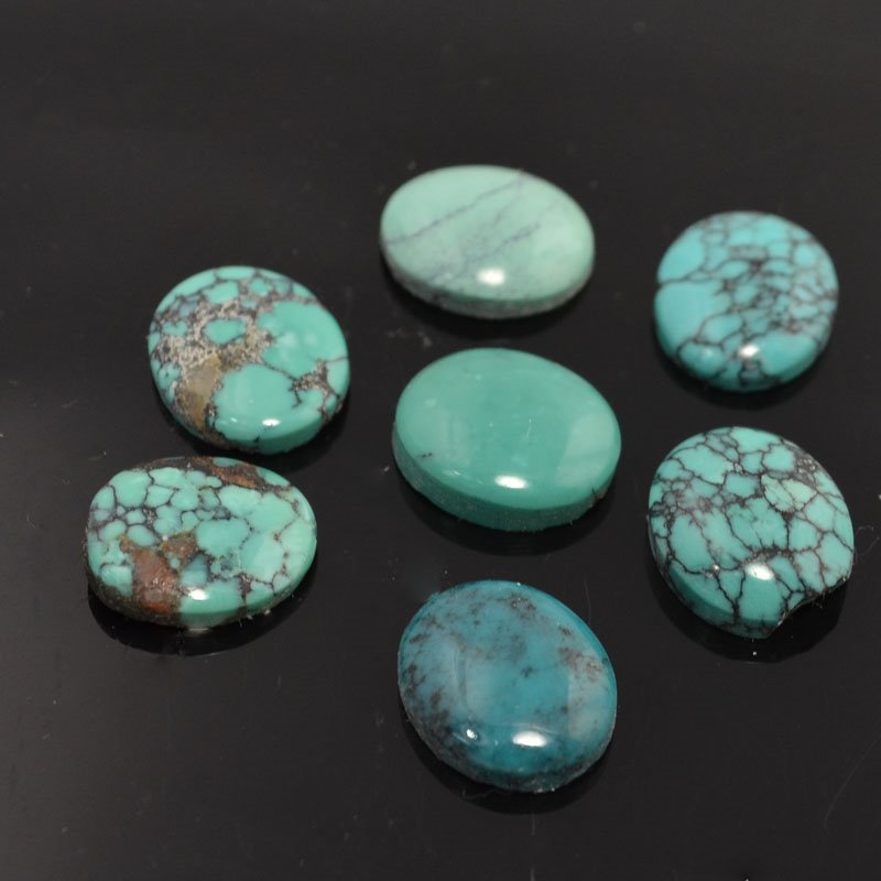 s44112 Stone - 10 x 12 mm Oval Cabochon - Turquoise (1)