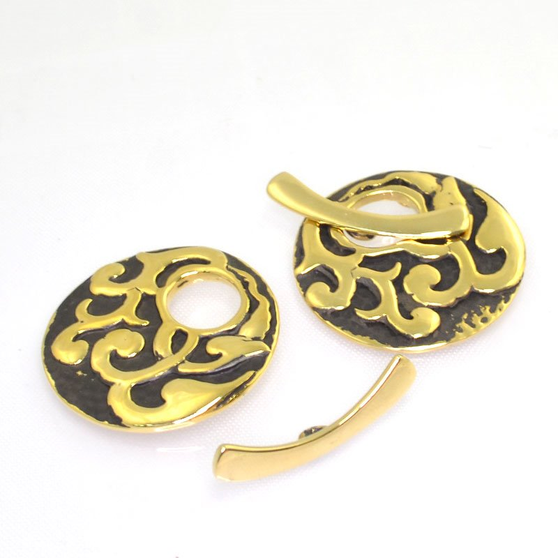 s44364 Toggle Clasp -  Nouveau Vines - Bronze (1)