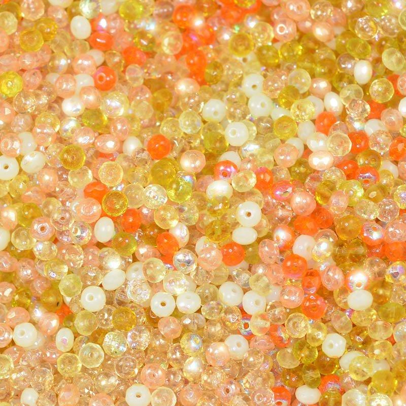 s44943 BeadFX Bead Mix - 3 x 5 mm Firepolish Donuts - Wild Fruite (tube)