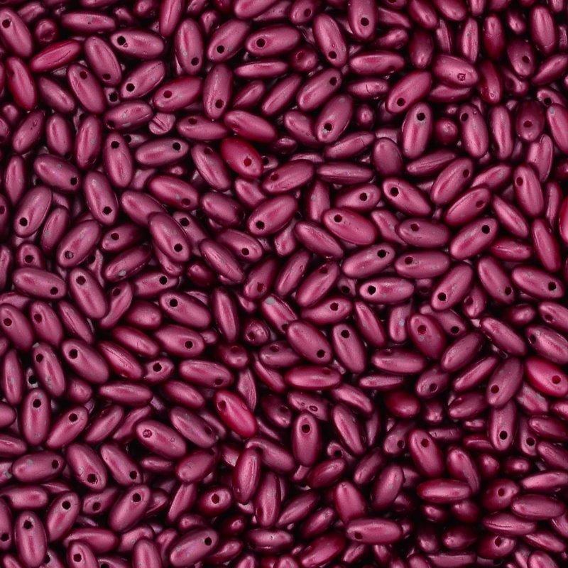 s45046 Czech Seedbeads -  Rizos - Pastel Burgundy