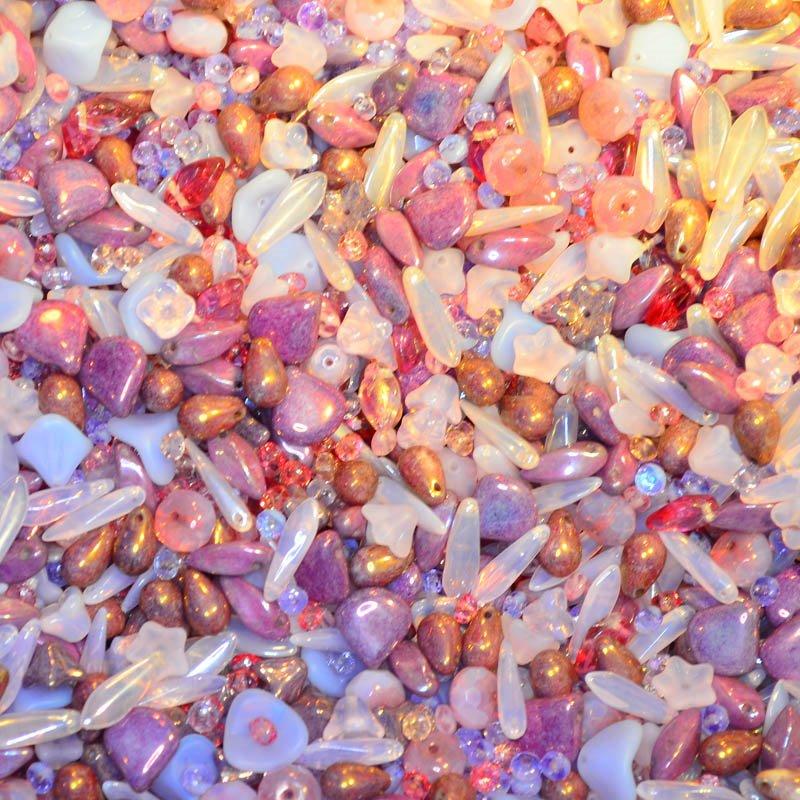 s45075 BeadFX Bead Mix -  Czech Glass and Firepolish Mix - Fairy Queen (Pack)
