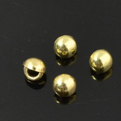 s45083 Crystaletts - 3 mm Stud Button - Gold Plated (20)