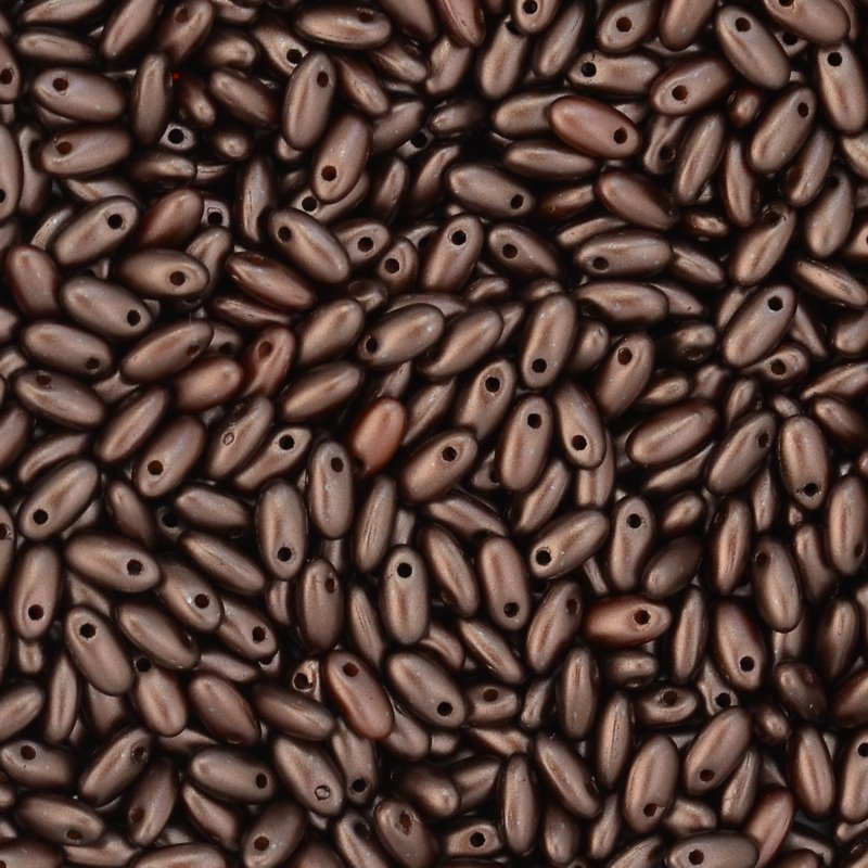 s45111 Czech Seedbeads -  Rizos - Pastel Dark Brown