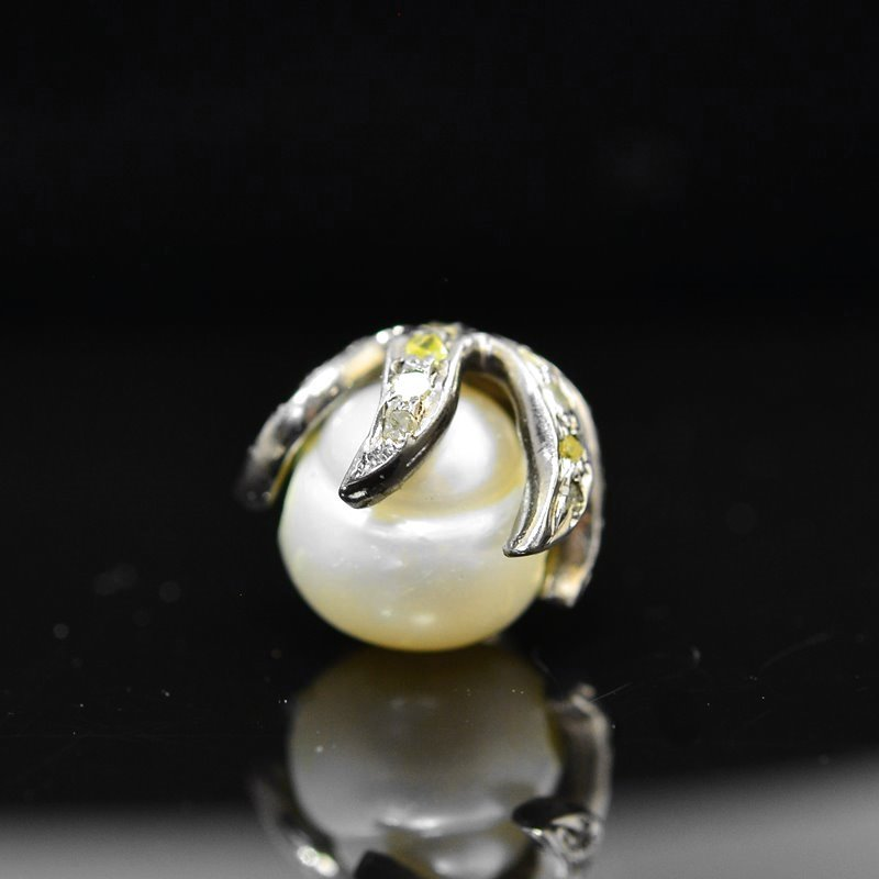 s45273 Diamond Findings -  Bead Cap - Coloured Diamonds / Gunmetal (1)