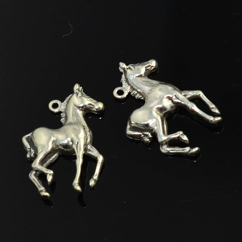 s45356 Charm/Pendant -  Flighty Filly - Sterling Silver (1)