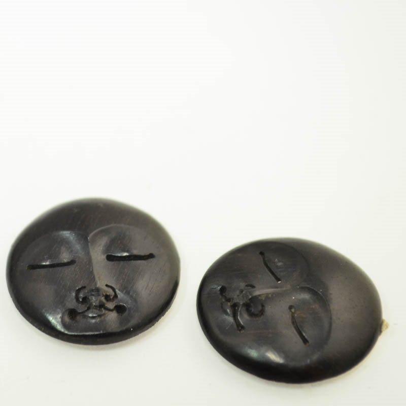 s45560 Cabochon -  Round Moon Face - Ebony (1)