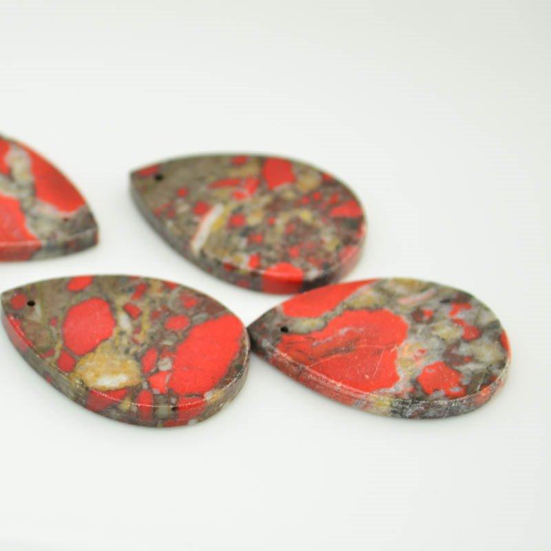 s45615 Stone -  Drop Pendant - Vampire Jasper (1)
