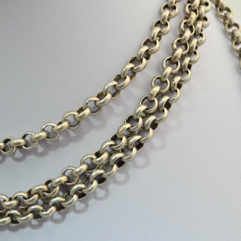 s46014 Chain - 5 mm Rolo Chain - Antiqued Silver (Inch)