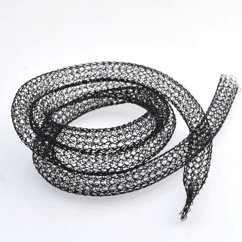 s46330 Silver Silk - Knitted Wire - 6 mm Galaxy - Andromeda (24 inches)