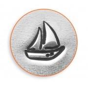 s47510 ImpressArt Stamps - 6 mm Design Stamp/Punch - Sailboat Design Stamp