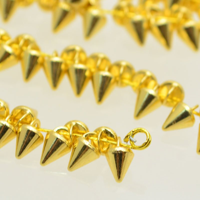 s47614 Crystaletts - 3 mm Micro Spike Button - Gold (20)
