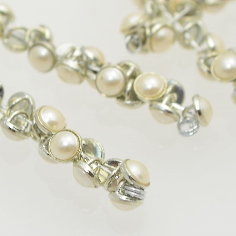 s47617 Crystaletts - 5 mm Pearl Button - White Pearl / Silver Rhodium (20)