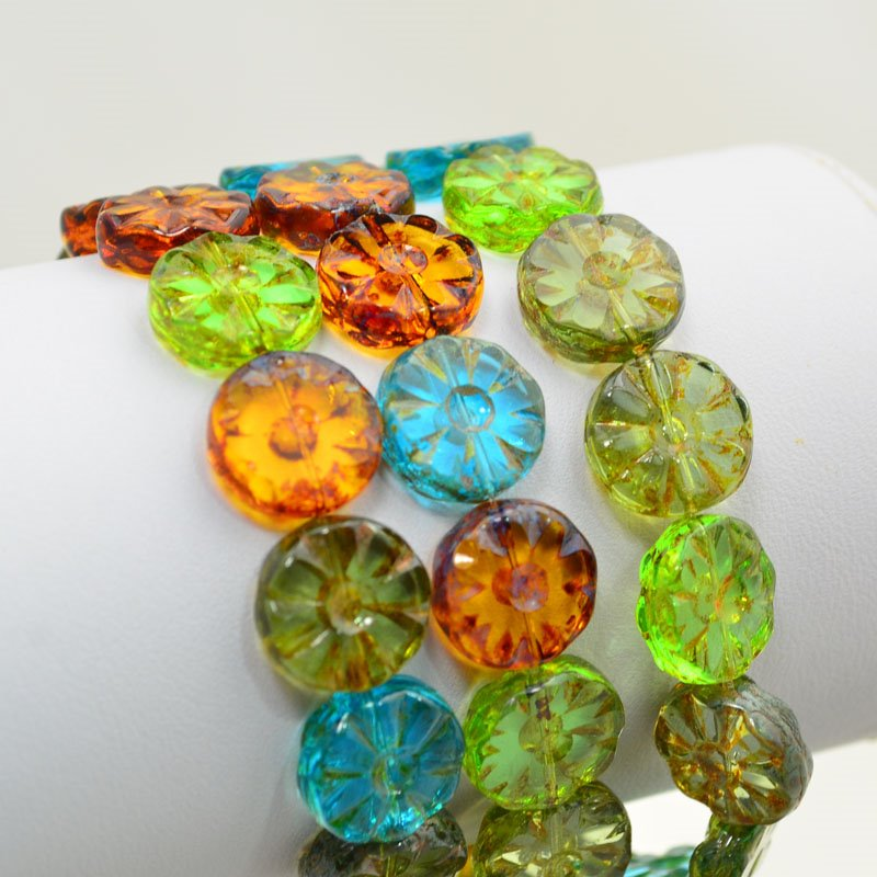 s47862 Glass Flowers - 12 mm Pressed Wild Flowers - Summer Gems (15)